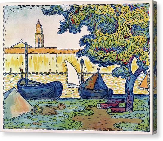 Signac Canvas Print - Saint-tropez, The Port Of St. Tropez - Digital Remastered Edition by Paul Signac