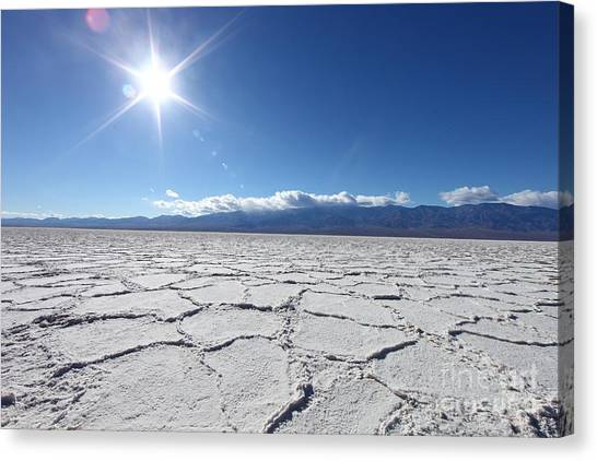 Death Valley Canvas Print - Salt Badwater Formations In Death by Tobkatrina