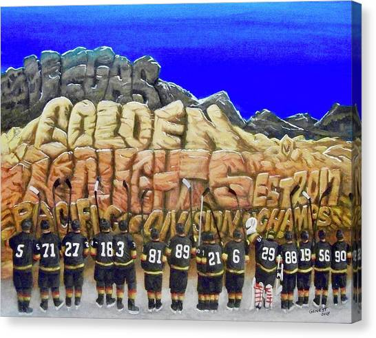 Pacific Division Canvas Print - Salute by Ron Genest