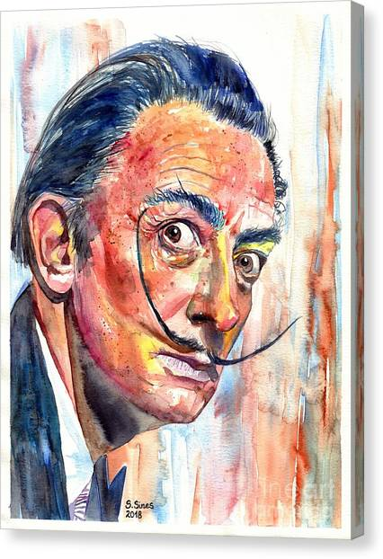 Pablo Picasso Canvas Print - Salvador Dali Portrait by Suzann's Art