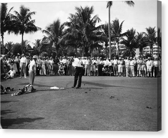 Sam Snead At The Palm Beach Golf Club Canvas Print