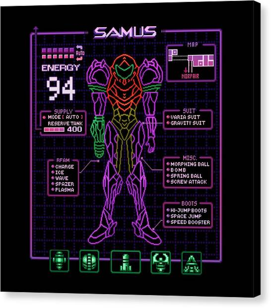 Metroid Canvas Print - Sammy Stats by Kari Likelikes