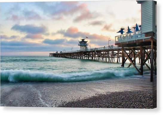 A San Clemente Pier Evening Canvas Print