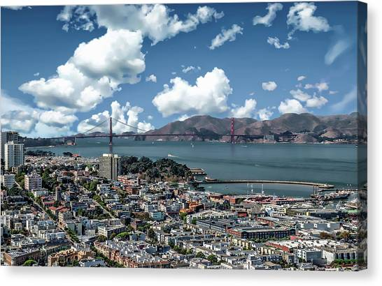 Canvas Print featuring the photograph San Francisco Bay Area by Anthony Dezenzio