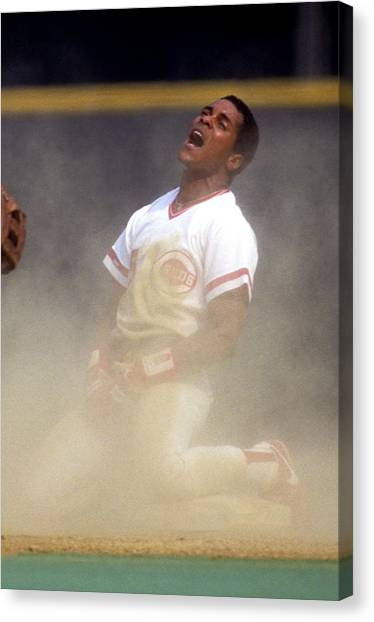 San Francisco Giants V Cincinnati Reds Canvas Print by Ronald C. Modra/sports Imagery