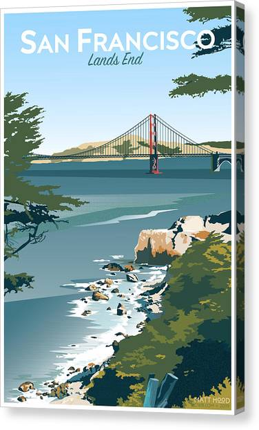 San Francisco Lands End Canvas Print