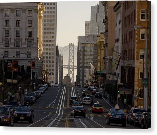 San Francisco Top California Travel Canvas Print by George Rose