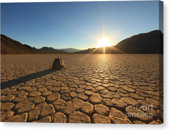 Death Valley Canvas Print - Sand Dune Formations In Death Valley by Tobkatrina