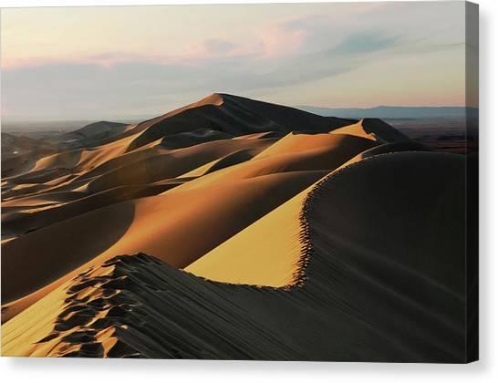 Gobi Canvas Print - Sand Dunes Of Khongoryn Els by Dave Stamboulis Travel Photography