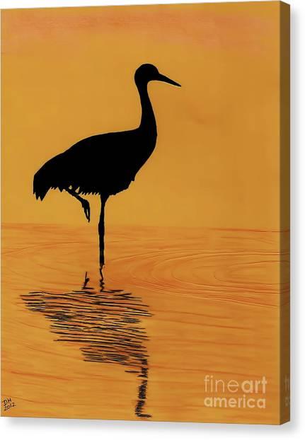 Sandhill - Crane - Sunset Canvas Print