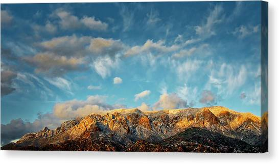 Sandia Gold, Sandia Mountain, Albuquerque, Nm Canvas Print