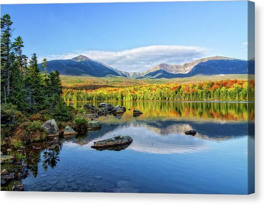 Sandy Stream Pond Baxter Sp Maine Canvas Print