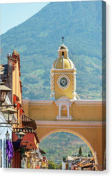Canvas Print featuring the photograph Santa Catalina Arch Antigua Guatemala by Tim Hester