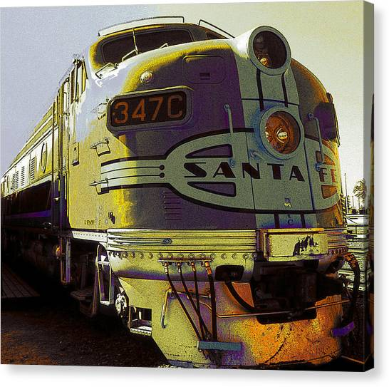 Santa Fe Railroad 347c - Digital Artwork Canvas Print
