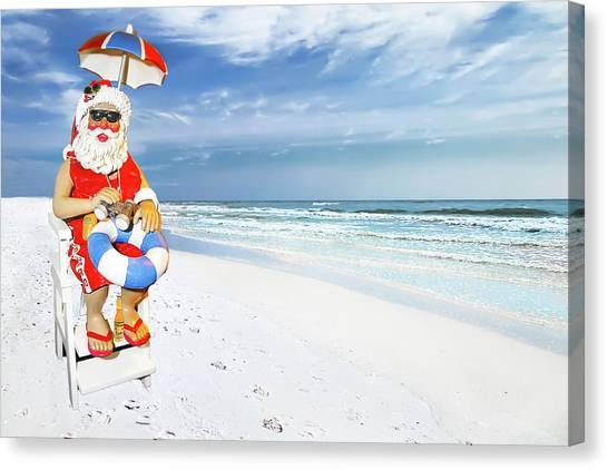 Santa Lifeguard Canvas Print