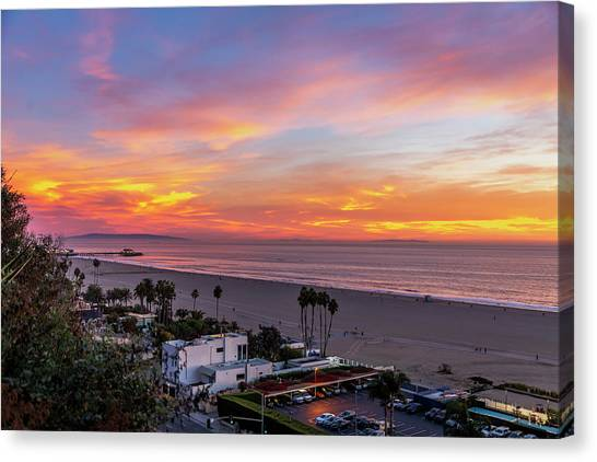 Santa Monica Pier Sunset - 11.1.18  Canvas Print