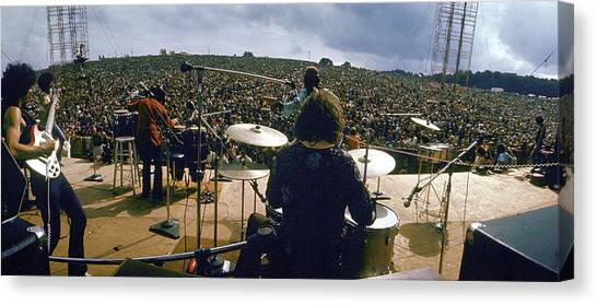 Santana Onstage At Woodstock Canvas Print