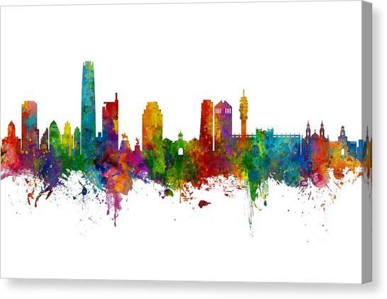 South America Canvas Print - Santiago De Chile Skyline by Michael Tompsett