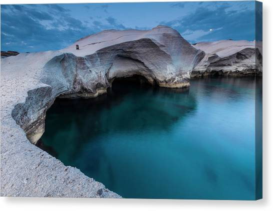 Greece Canvas Print - Sarakiniko by Evgeni Dinev