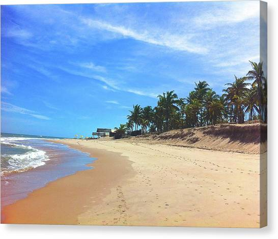 Sauipe Beach - Boxing Day Canvas Print by Adrian R Walmsley