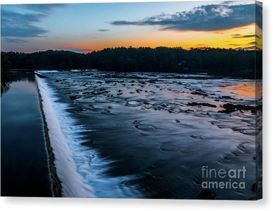 Savannah Rapids Sunrise - Augusta Ga Canvas Print