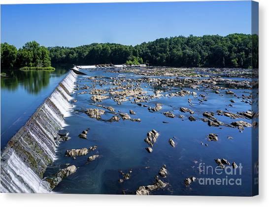 Savannah River Rapids - Augusta Ga 2 Canvas Print