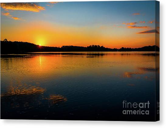 Savannah River Sunrise - Augusta Ga Canvas Print