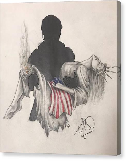 Soldier Canvas Print - Saving Liberty by Howard King
