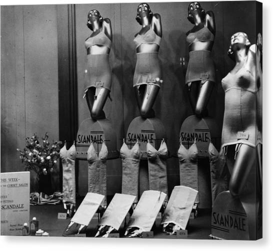 Scandale Corsets Canvas Print by Hulton Archive