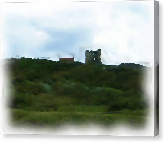 Scarborough Castle Painting Canvas Print