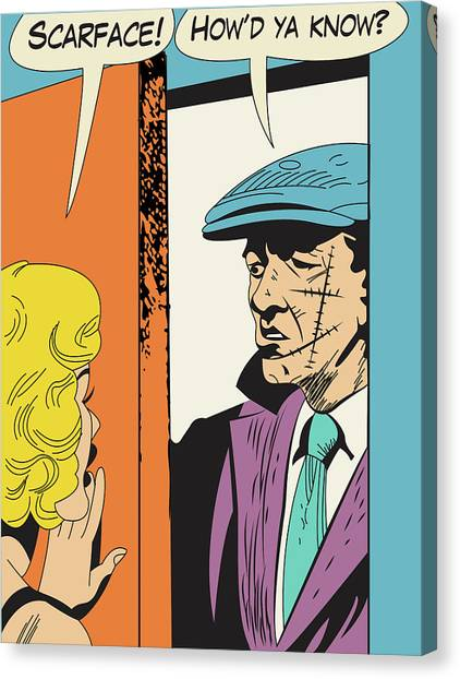 Scarface Canvas Print - Scareface At Her Door by Long Shot