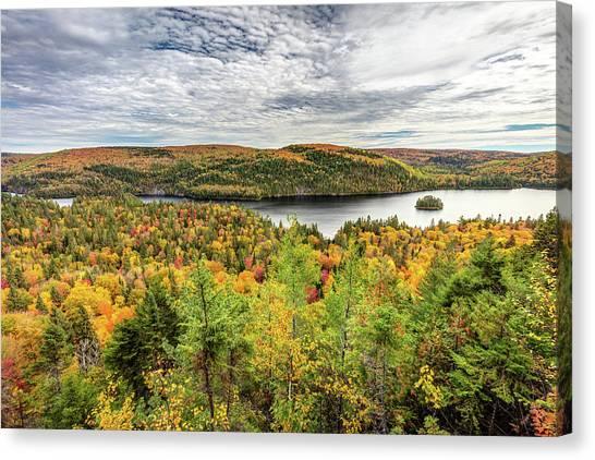 Canvas Print featuring the photograph Scenic Autumn Landscape by Pierre Leclerc Photography