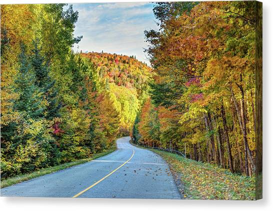 Canvas Print featuring the photograph Scenic Drive In Autumn by Pierre Leclerc Photography