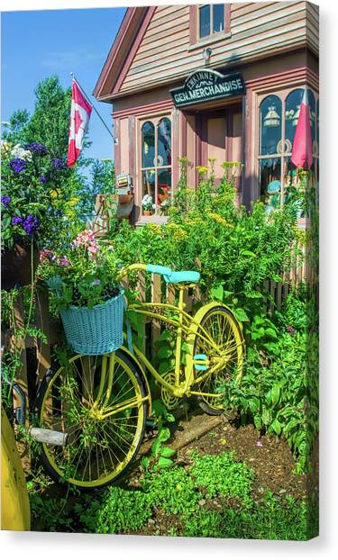 Nova Scotia Canvas Print - Scenic Garden And Antiques Store by David Smith