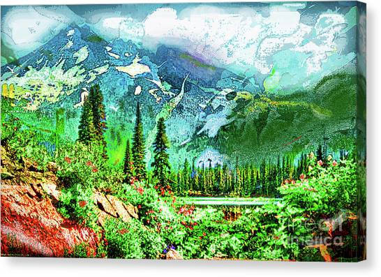 Scenic Mountain Lake Canvas Print