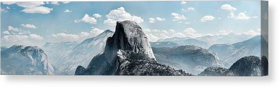 Canvas Print - Scenic View Of Rock Formations, Half by Panoramic Images