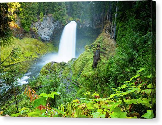 Canvas Print - Scenic View Of Waterfall, Portland by Panoramic Images