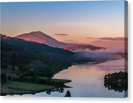 Schiehallion  From Queen's View Canvas Print by David Ross
