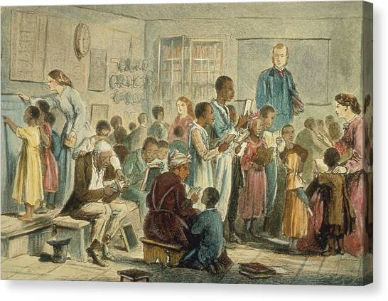 School For Slaves Canvas Print by Fotosearch