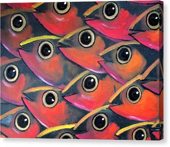 Canvas Print - School Of Eyes by Joan Stratton