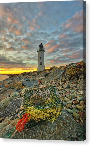 Canvas Print featuring the photograph Scituate Lighthouse by Juergen Roth