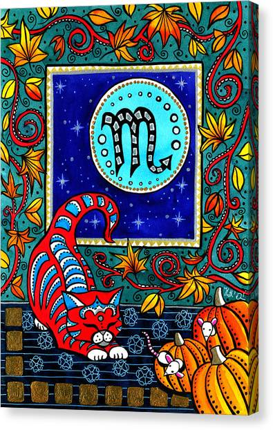 Scorpio Cat Zodiac Canvas Print