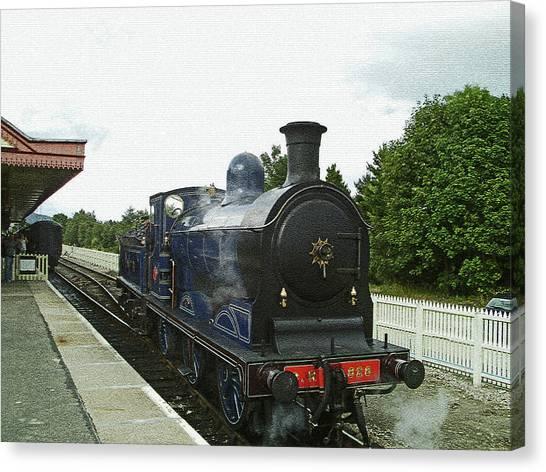 Scotland. Aviemore. Strathspey Railway. Canvas Print