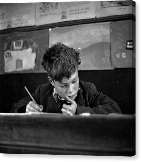 Scottish Schoolboy Canvas Print