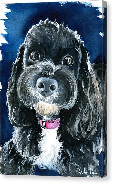 Scout - Cavoodle Dog Painting Canvas Print