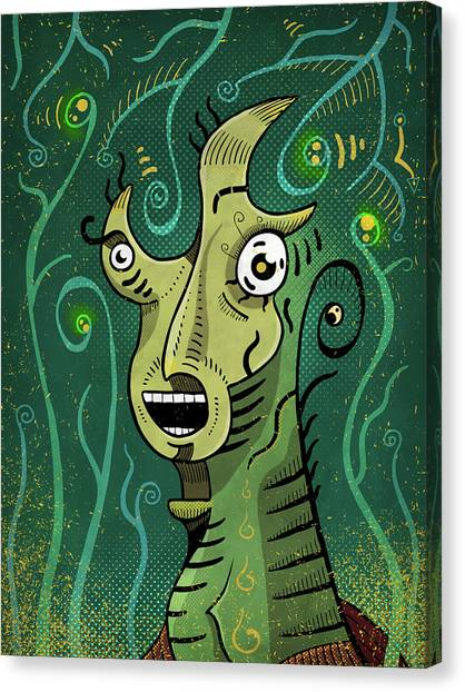 Canvas Print featuring the digital art Scream by Sotuland Art
