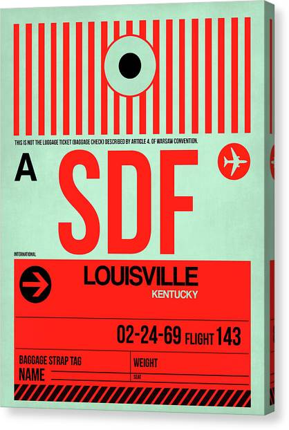 Kentucky Canvas Print - Sdf Louisville Luggage Tag I by Naxart Studio
