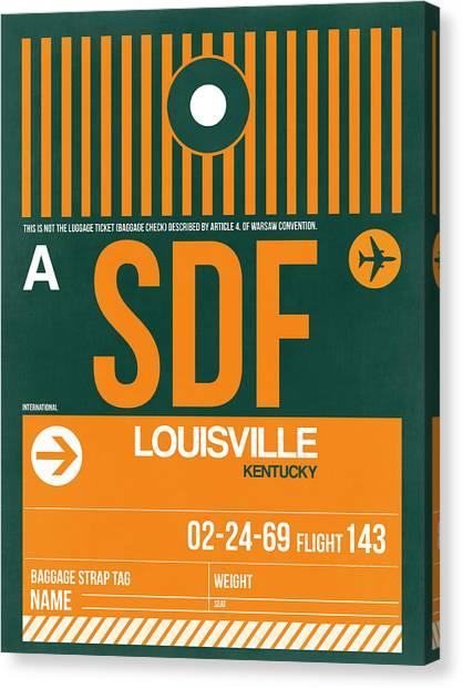 Kentucky Canvas Print - Sdf Louisville Luggage Tag II by Naxart Studio
