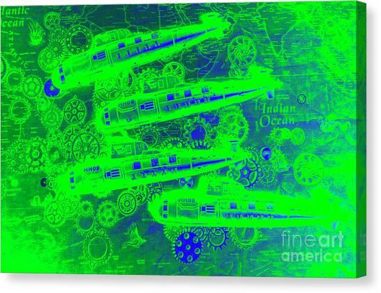 Submarine Canvas Print - Sea Sub Sonar by Jorgo Photography - Wall Art Gallery