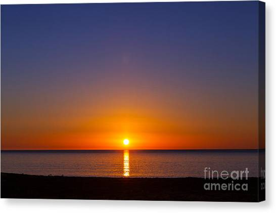 Tides Canvas Print - Sea Sunset by Galyna Andrushko